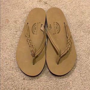 NWOT braided flip flops